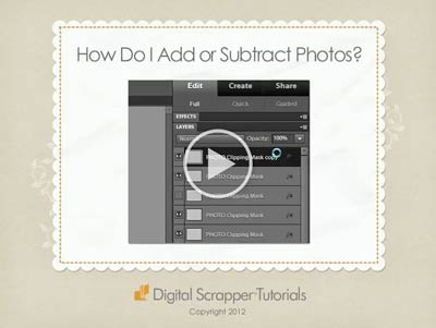 13 How Do I Add or Subtract Photo Layers?