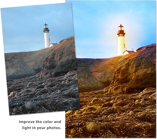 Lighthouse photo: Improve the color and light in your photos.