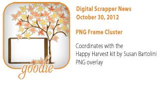 Happy Harvest PNG Frame Cluster
