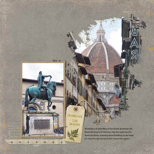 Scrapook Layout: Florence