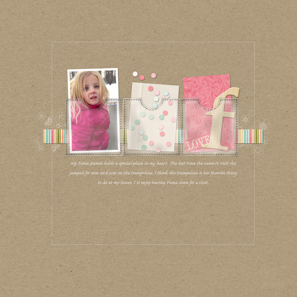Scrapbook Layout: Confetti