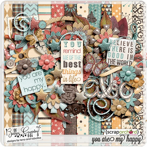 You Are My Happy kit by Bella Gypsy