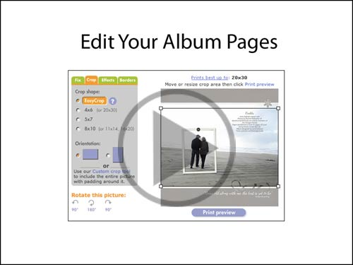 Edit your album pages