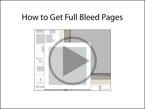 How to get full bleed pages