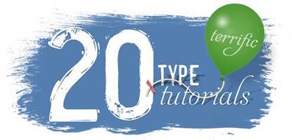 20 Terrific Type Tutorials Class
