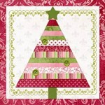 Patterned Paper Christmas Tree