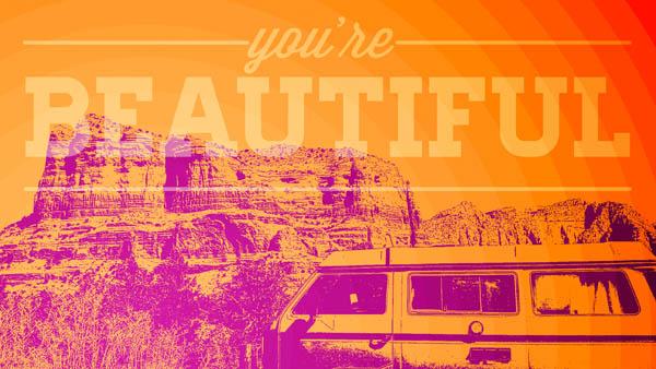 """You're Beautiful"" Pop Art Poster"