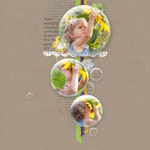 Bubble Sunflower Layout