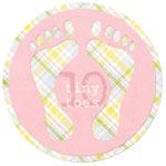 10 Tiny Toes – Baby Footprint Circle