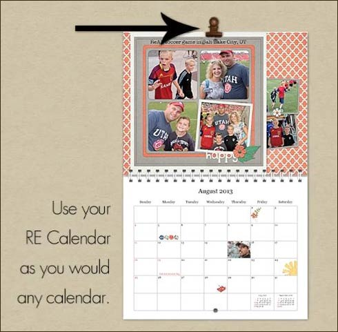 Hang Your Calendar with a Sturdy Clip