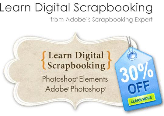 Learn Digital Scrapbooking 30% off sale!
