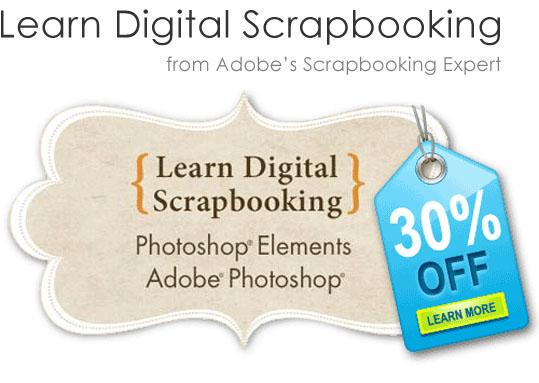 Learn Digital Scrapbooking sale!