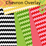 Gradient Tool + Wave Filter = Fun Chevron Striped Overlay!