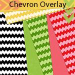 Gradient Tool + Wave Filter = Fun Chevron Striped Overlay!