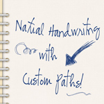 Natural Handwriting with Custom Paths