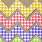 Create Your Own Gingham Papers Like Magic