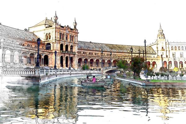 Plaza de España, by BeckB