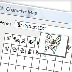 View and Use Dingbat Fonts (Windows)